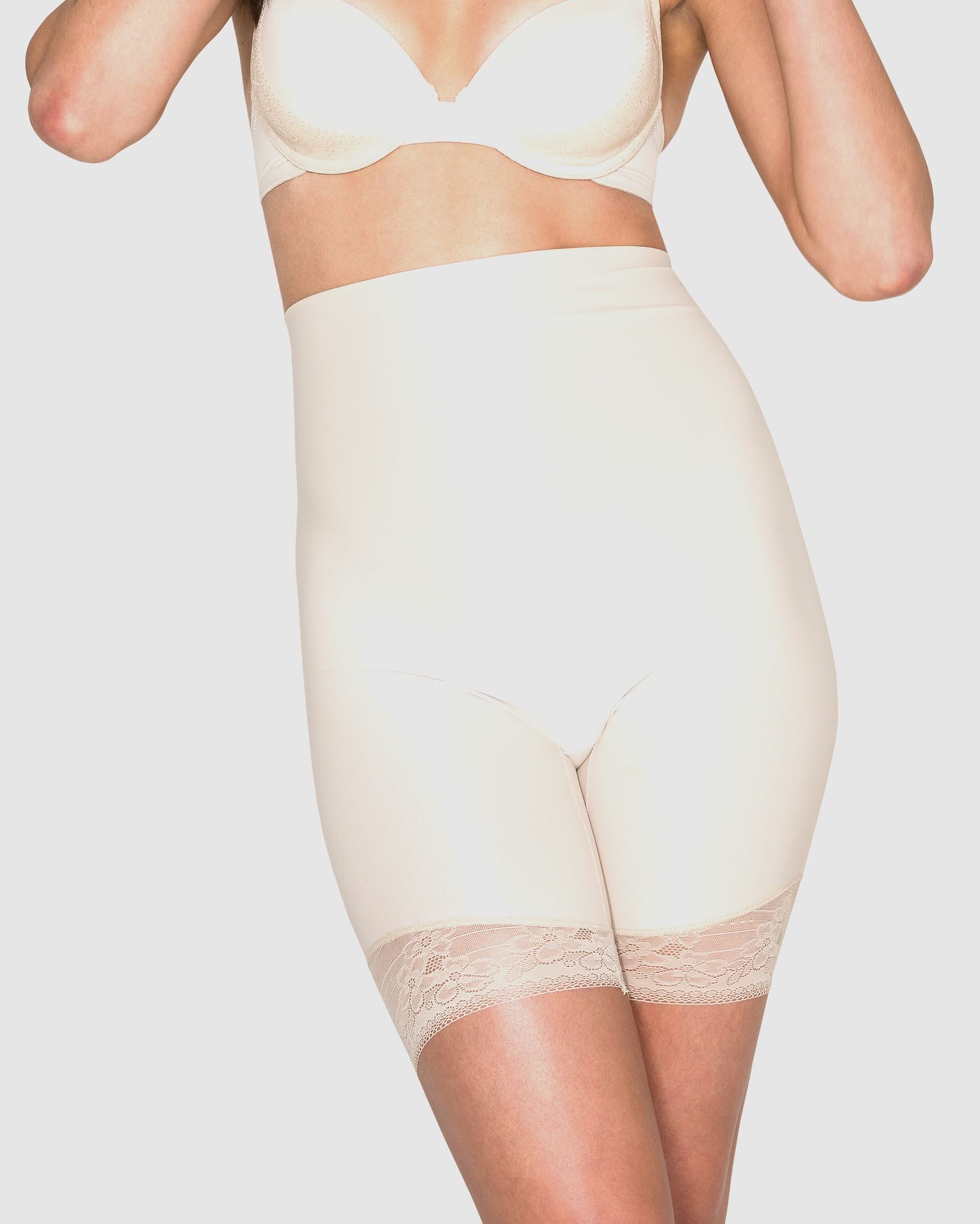 ESSENSUAL FIRM CONTROL HIGH WAIST THIGH SHAPERS - Cherry Red